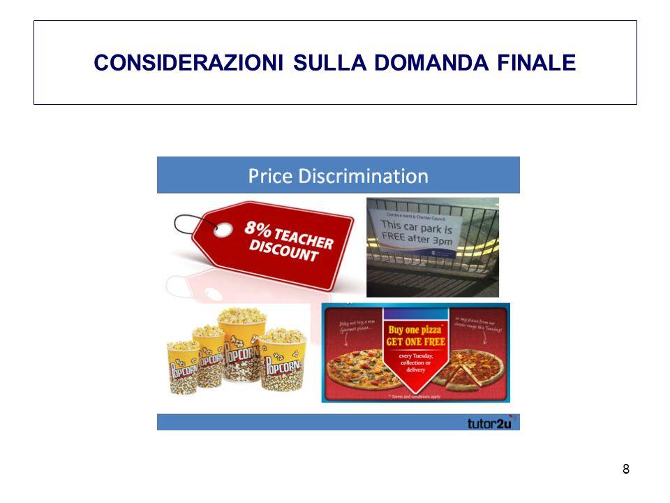 CONSIDERAZIONI SULLA DOMANDA FINALE 8
