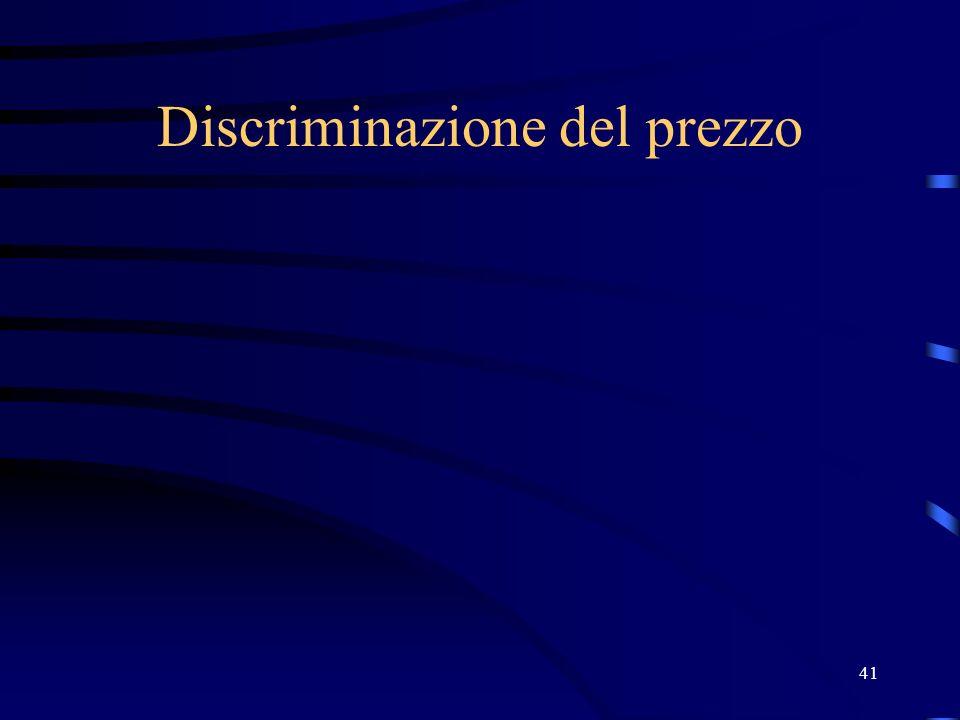 41 Discriminazione del prezzo
