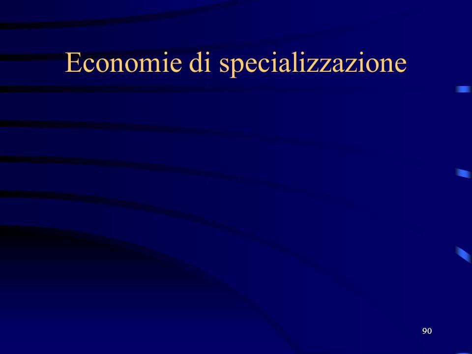 90 Economie di specializzazione