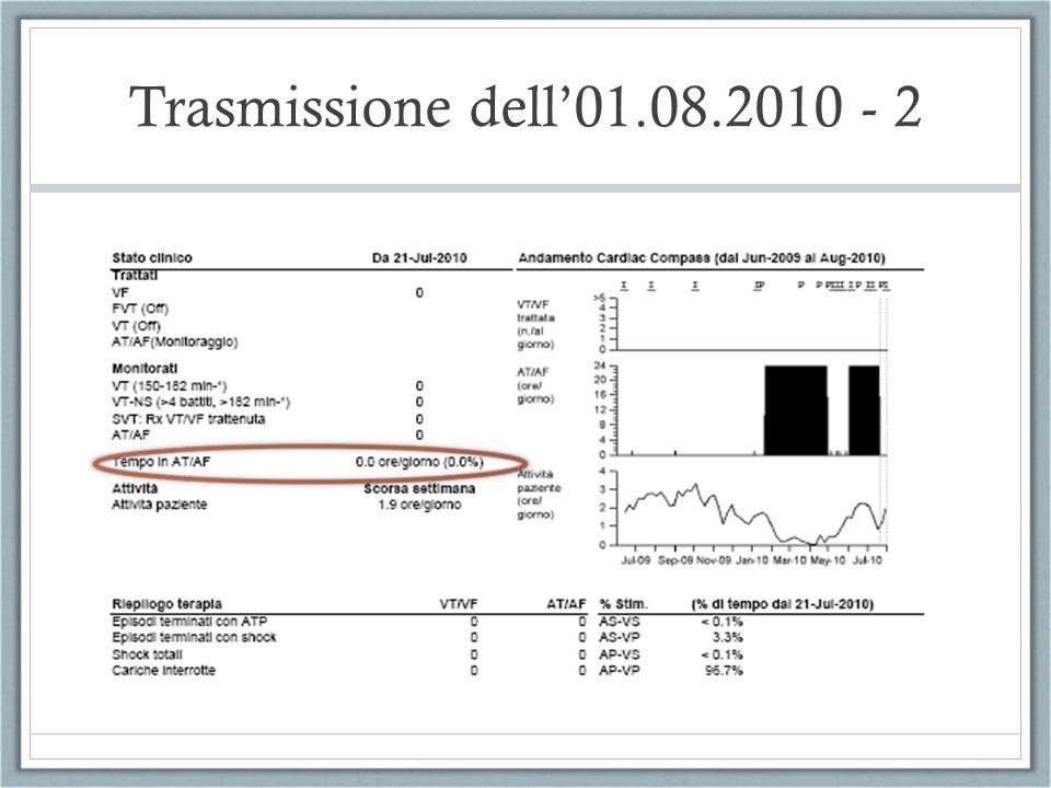 Trasmissione dell01.08.2010 - 2