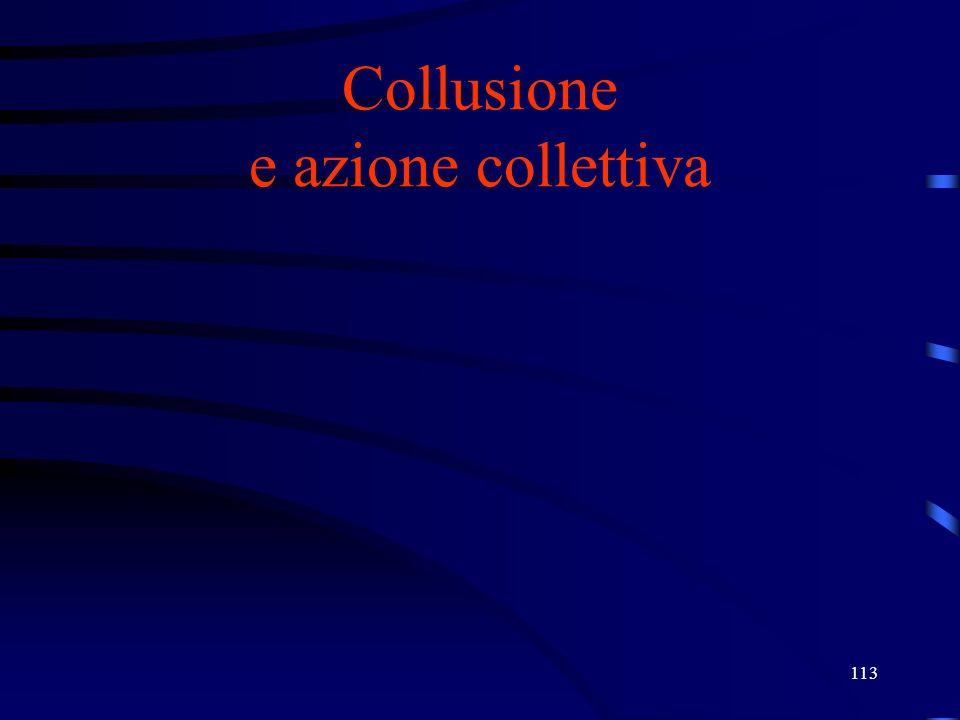 113 Collusione e azione collettiva