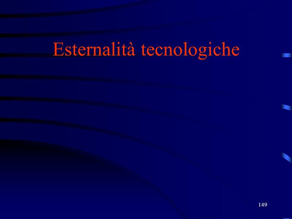 149 Esternalità tecnologiche