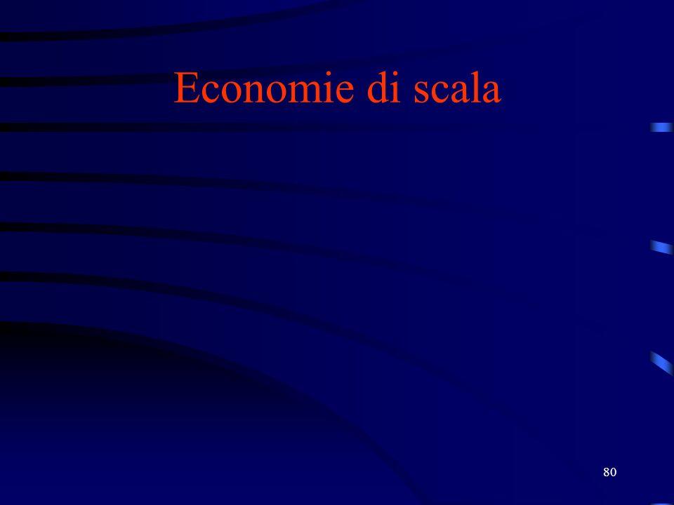 80 Economie di scala
