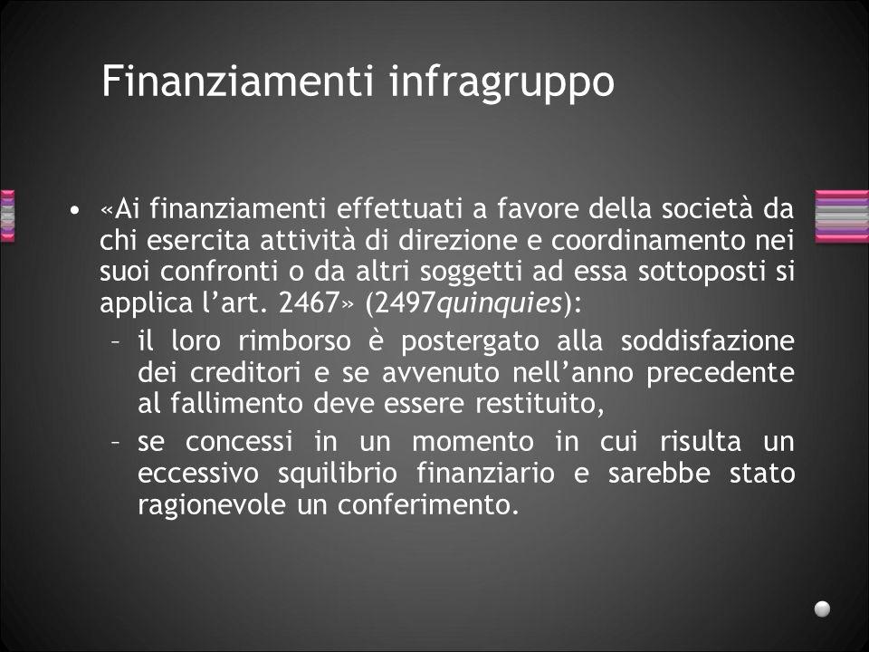 Insolvenza di gruppo Manca una disciplina generale dellinsolvenza di gruppo.