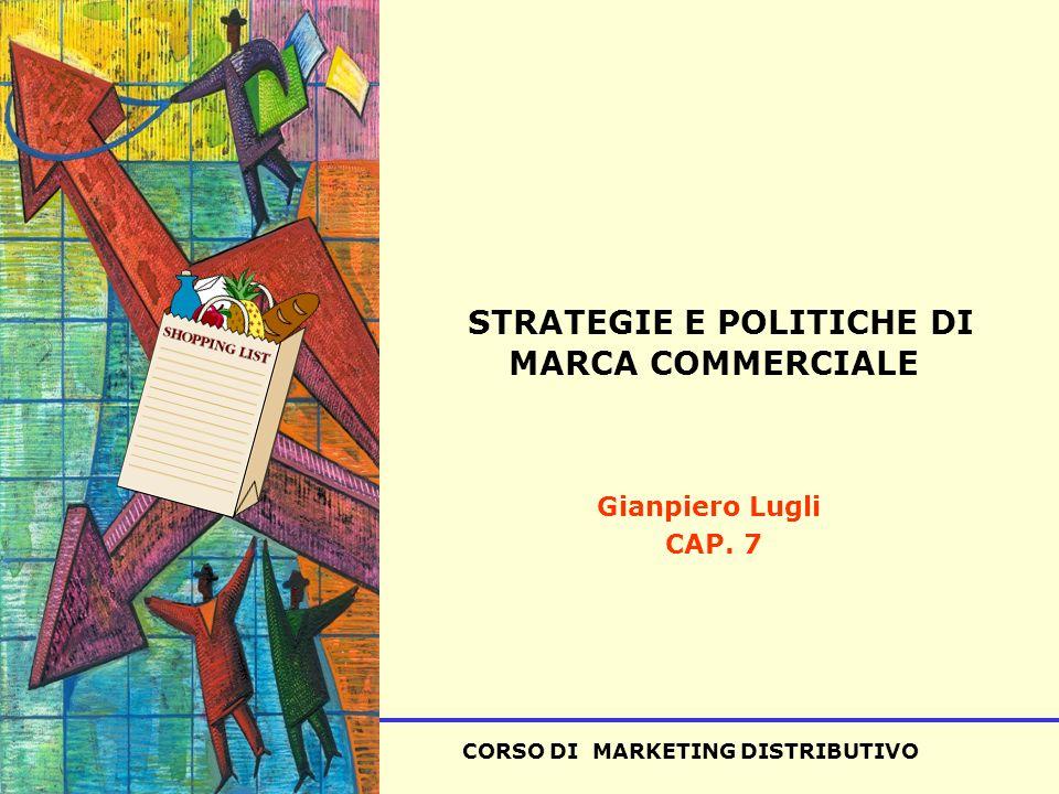 CORSO DI MARKETING DISTRIBUTIVO SISA STRATEGIE E POLITICHE DI MARCA COMMERCIALE Gianpiero Lugli CAP.