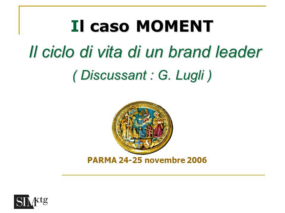 l caso MOMENT Il ciclo di vita di un brand leader ( Discussant : G. Lugli ) Il caso MOMENT Il ciclo di vita di un brand leader ( Discussant : G. Lugli