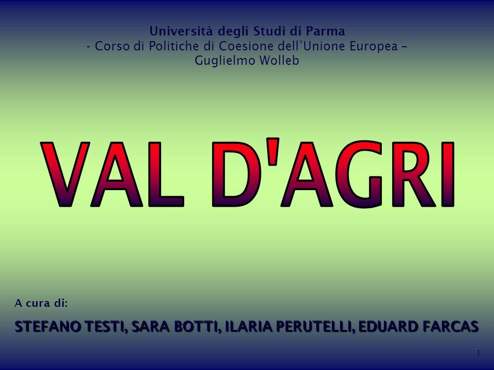 1 Università degli Studi di Parma - Corso di Politiche di Coesione dellUnione Europea – Guglielmo Wolleb A cura di: STEFANO TESTI, SARA BOTTI, ILARIA