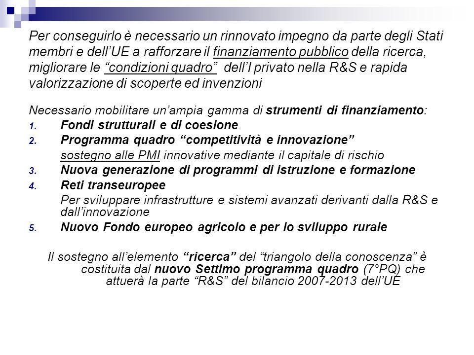La Commissione propone un nuovo programma di ricerca articolato intorno a quattro obiettivi, ciascuno dei quali sostenuto dal proprio programma quattro programmi: 1.