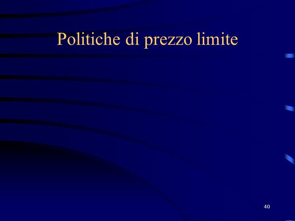 40 Politiche di prezzo limite