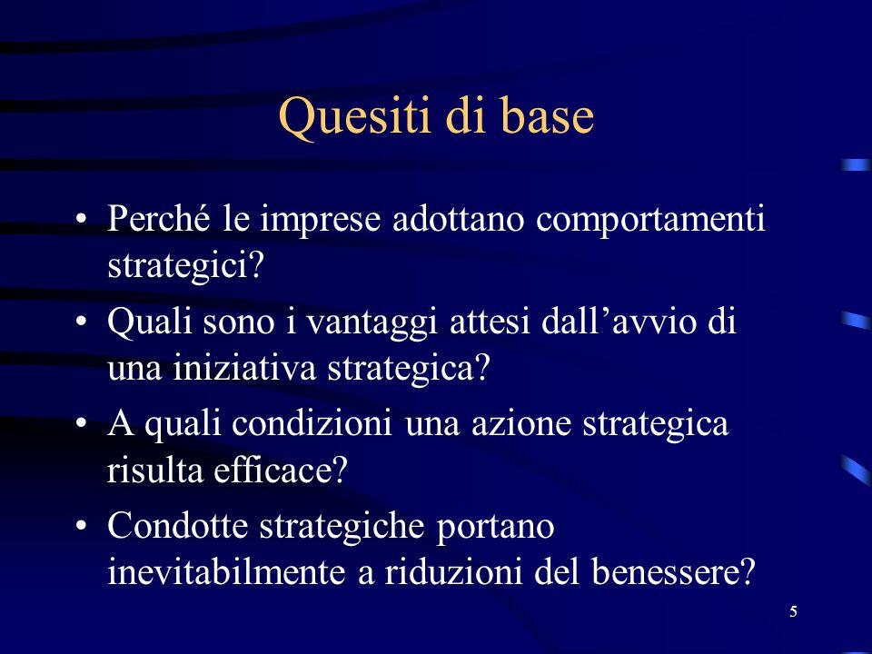 96 Conclusioni La strategia di aumento dei costi rappresenta una scelta razionale per una impresa preesistente (minaccia credibile): i profitti sono superiori a quelli di accomodamento