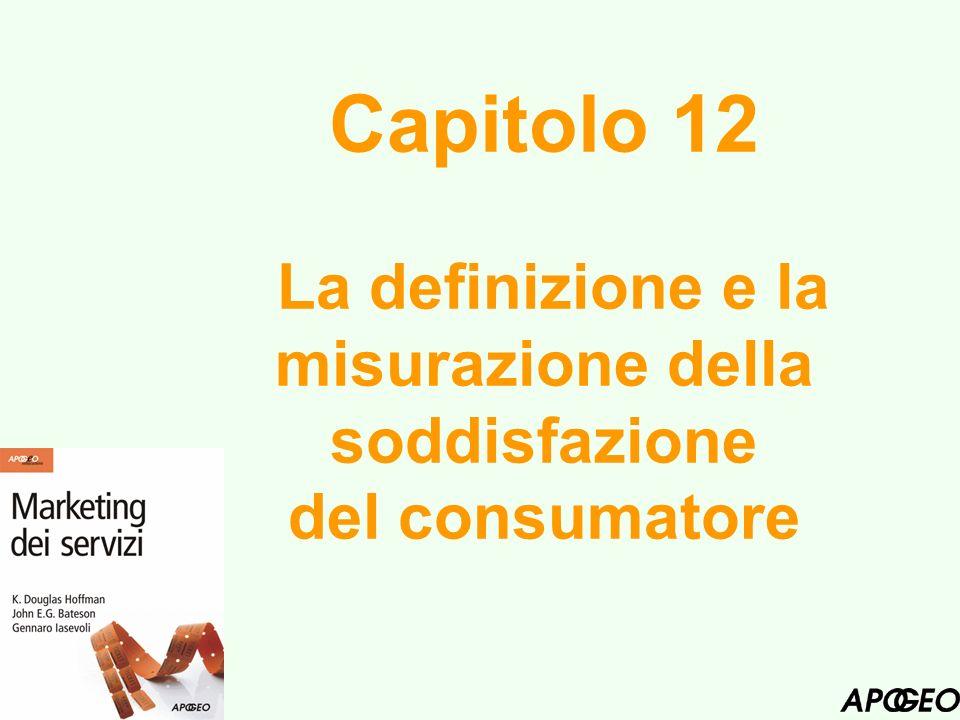 Obiettivi del Capitolo Definire la soddisfazione del cliente e comprendere i vantaggi che ne derivano.