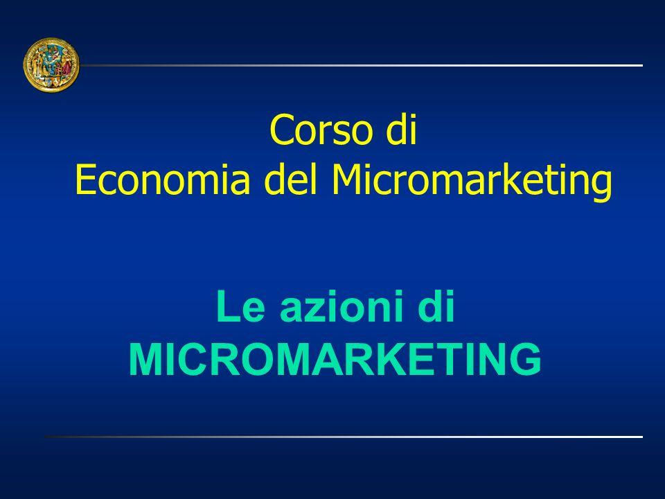 Le azioni di MICROMARKETING Corso di Economia del Micromarketing