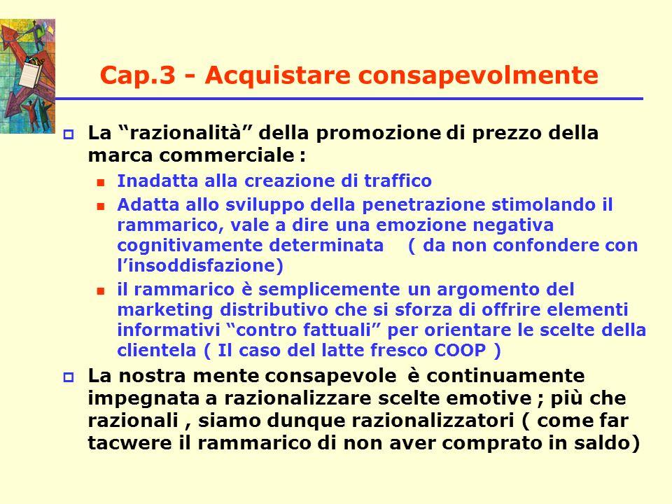 Cap.3 - Acquistare consapevolmente La razionalità della promozione di prezzo della marca commerciale : Inadatta alla creazione di traffico Adatta allo