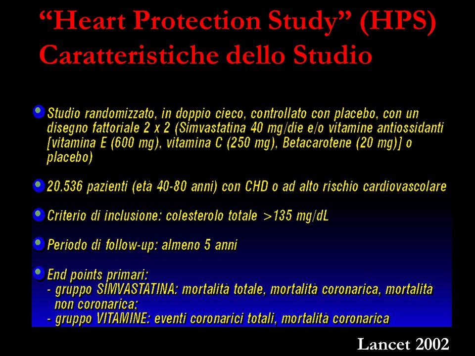 Heart Protection Study (HPS) Caratteristiche dello Studio Lancet 2002