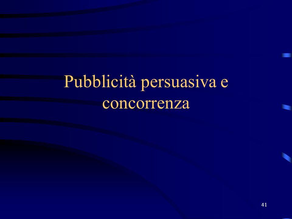41 Pubblicità persuasiva e concorrenza
