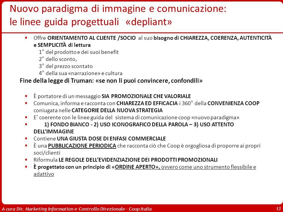 A cura Dir. Marketing Information e Controllo Direzionale – Coop Italia 13 Offre ORIENTAMENTO AL CLIENTE /SOCIO al suo bisogno di CHIAREZZA, COERENZA,