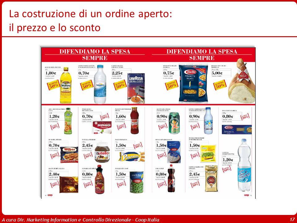 A cura Dir. Marketing Information e Controllo Direzionale – Coop Italia 17 La costruzione di un ordine aperto: il prezzo e lo sconto