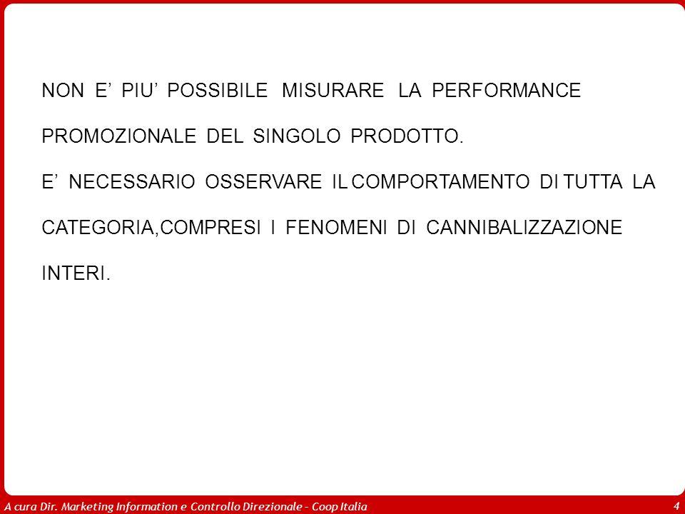 A cura Dir. Marketing Information e Controllo Direzionale – Coop Italia 4 NON E PIU POSSIBILE MISURARE LA PERFORMANCE PROMOZIONALE DEL SINGOLO PRODOTT