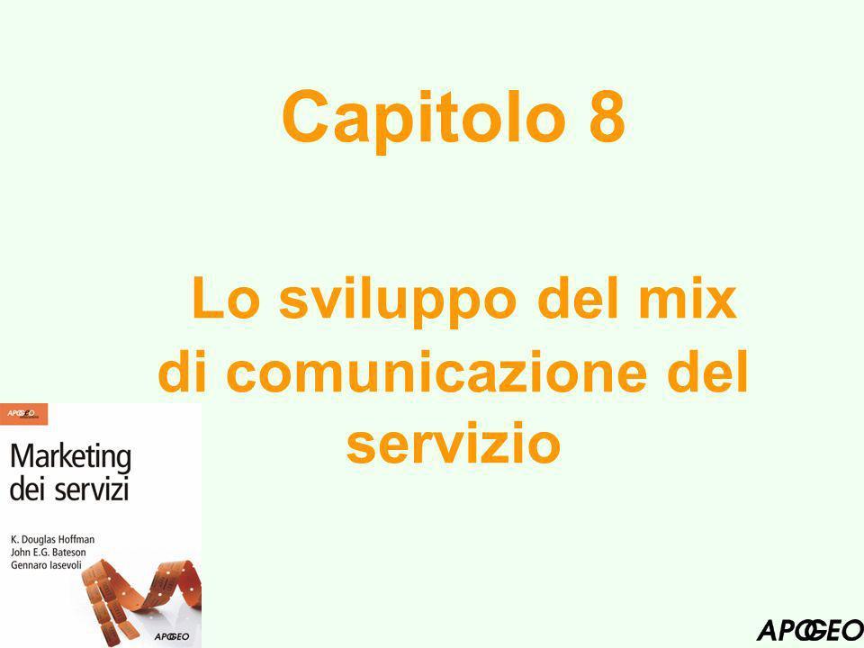 Capitolo 8 Lo sviluppo del mix di comunicazione del servizio
