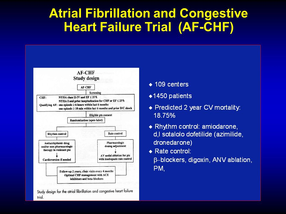 Atrial Fibrillation and Congestive Heart Failure Trial (AF-CHF)