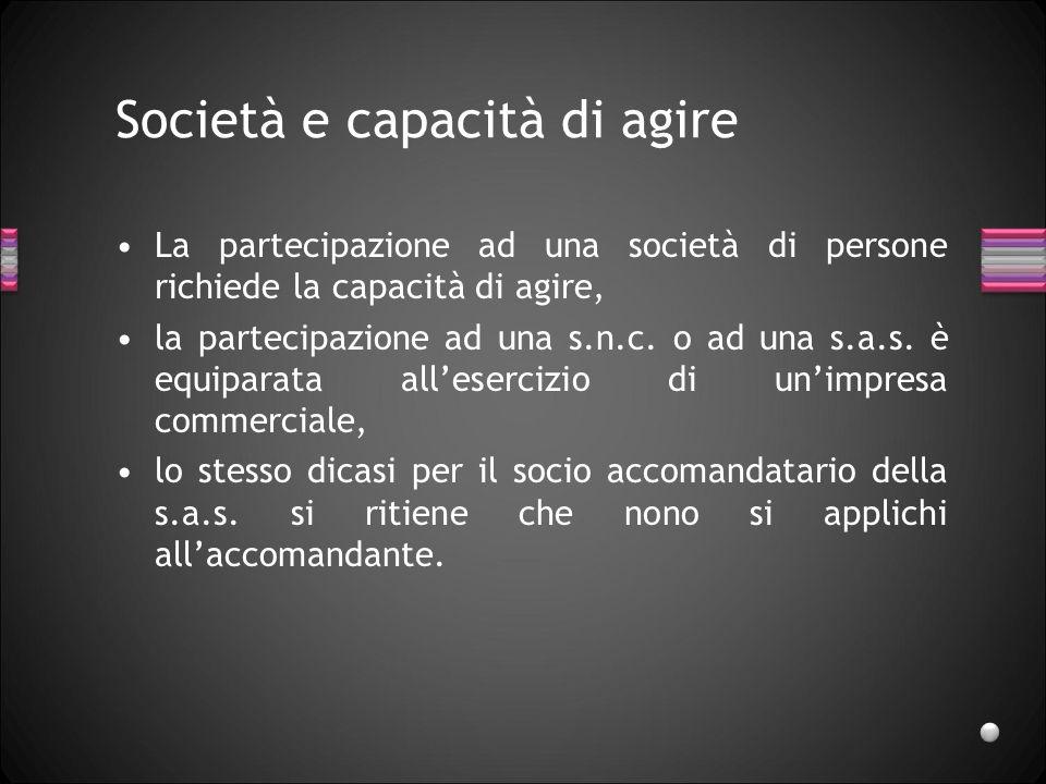 Società apparente E una creazione giurisprendenziale, manca un accordo tra i soci che la qualifichino come società, ma è stata ingenerata dei terzi la convinzione che la società esista, per la giurisprudenza, anche la s.a.