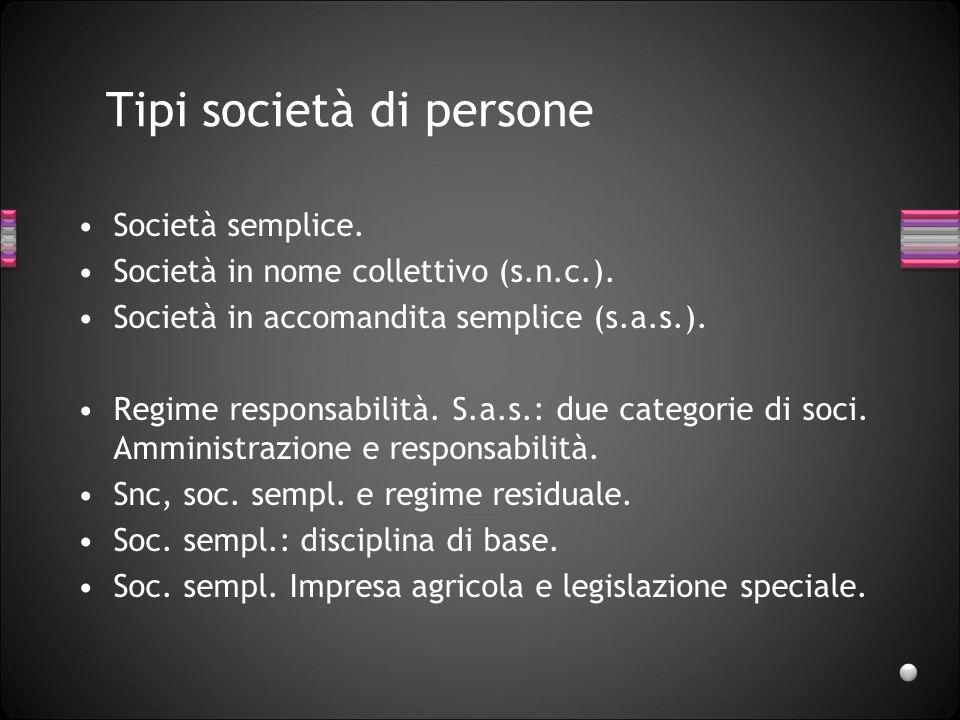 Le società di persone Lorenzo Benatti Parma, 13 ottobre 2011