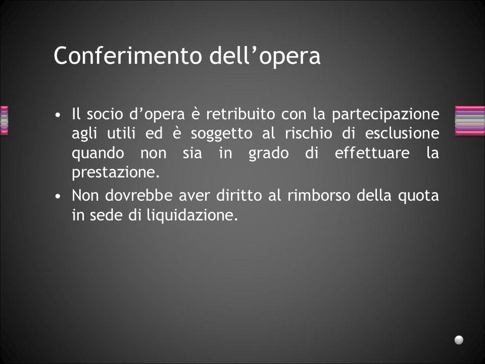 Conferimenti di crediti Il socio conferente «risponde dellinsol-venza del debitore nei limiti indicati dallarticolo 1267 per il caso di assunzione convenzionale della garanzia».