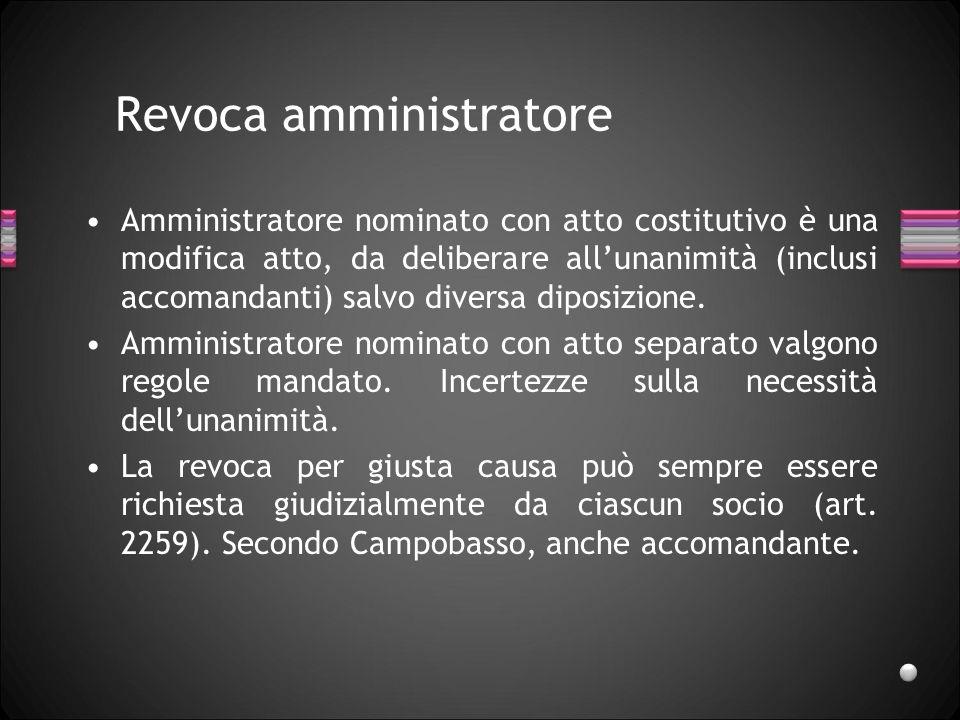Nomina amministratori Nella soc.sempl. e nella s.n.c., può avvenire nellA.C.