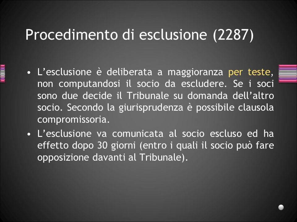 Esclusione Di diritto o automatica (art.