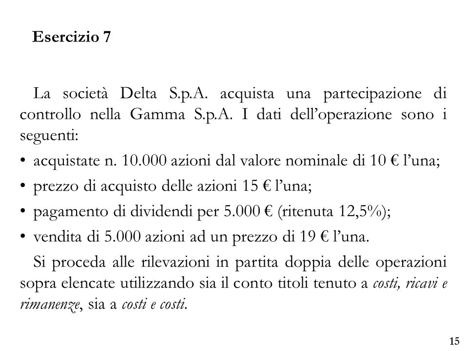 Università degli Studi di Parma 15 La società Delta S.p.A.
