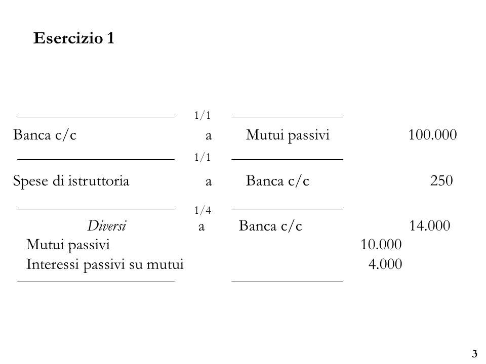 Università degli Studi di Parma Esercizio 2 4 In vista di un investimento di elevata entità, il giorno 01/05/07 la società Beta decide di emettere un prestito obbligazionario di 25.000, valore nominale unitario dei titoli 10.