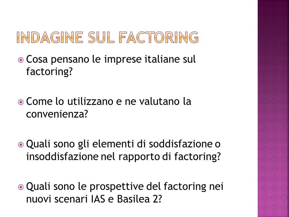 Cosa pensano le imprese italiane sul factoring? Come lo utilizzano e ne valutano la convenienza? Quali sono gli elementi di soddisfazione o insoddisfa