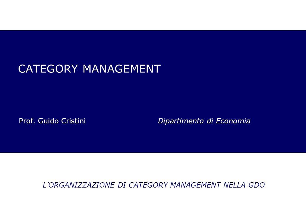 CATEGORY MANAGEMENT Prof. Guido Cristini Dipartimento di Economia LORGANIZZAZIONE DI CATEGORY MANAGEMENT NELLA GDO