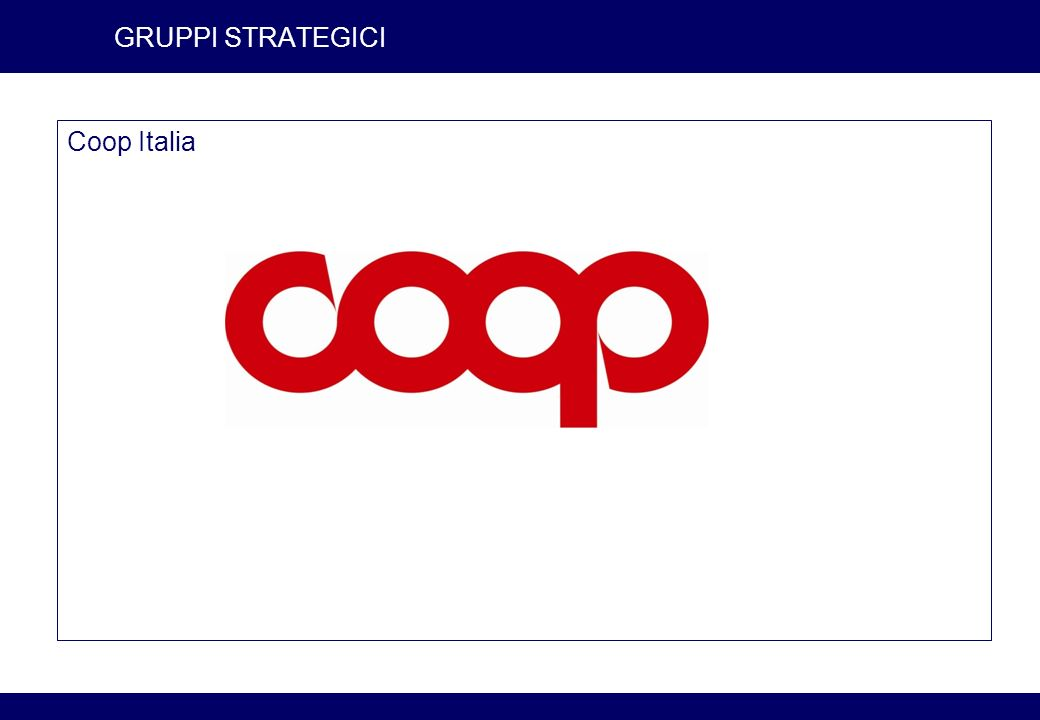 7 GRUPPI STRATEGICI Coop Italia