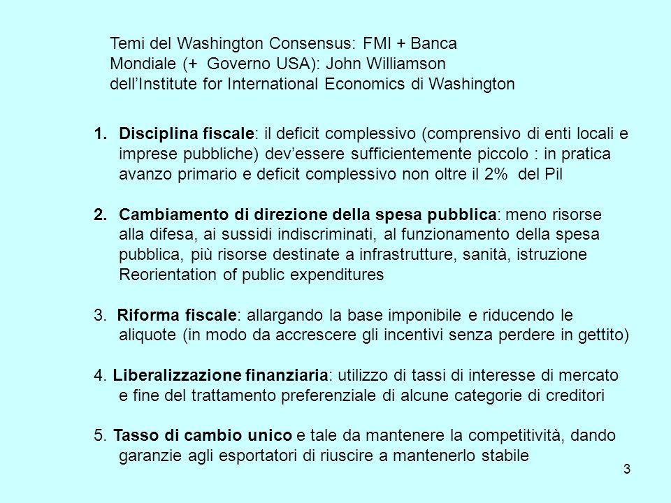 3 1.Disciplina fiscale: il deficit complessivo (comprensivo di enti locali e imprese pubbliche) devessere sufficientemente piccolo : in pratica avanzo