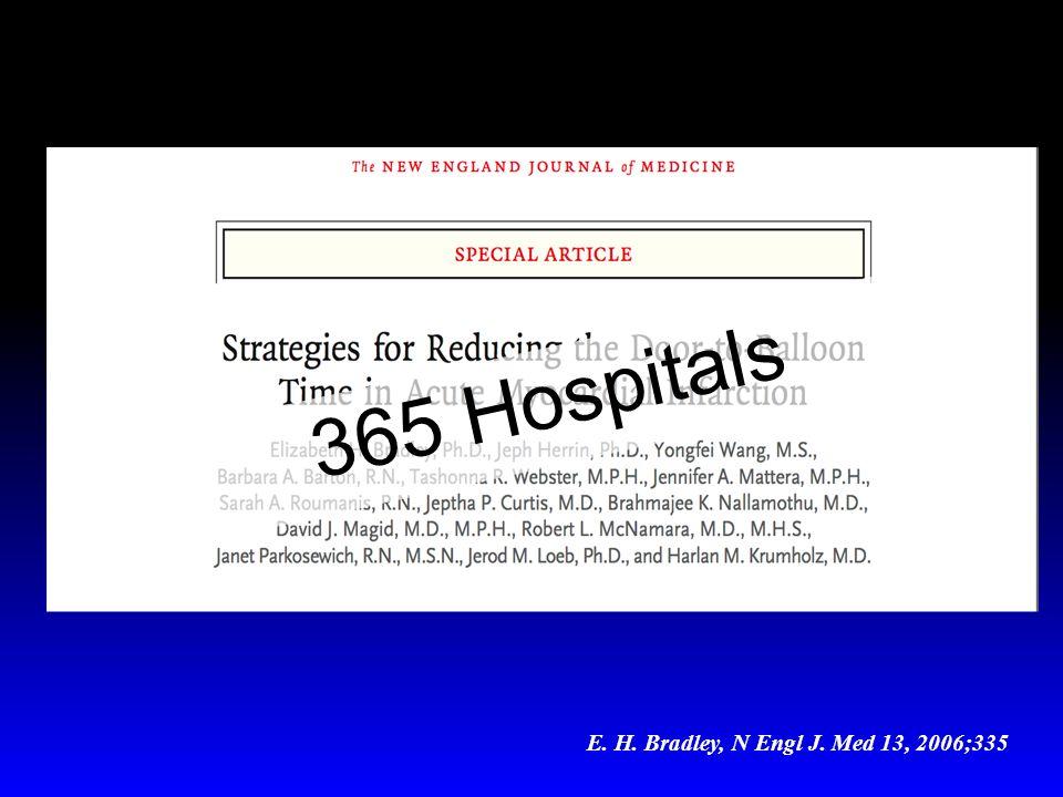 E. H. Bradley, N Engl J. Med 13, 2006;335 365 Hospitals