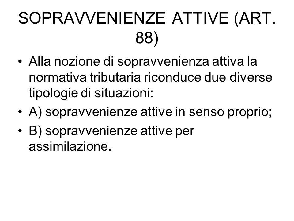 SOPRAVVENIENZE ATTIVE (ART.