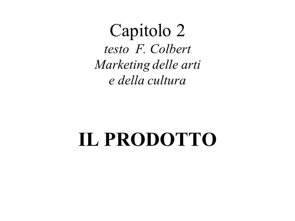 Capitolo 2 testo F. Colbert Marketing delle arti e della cultura IL PRODOTTO