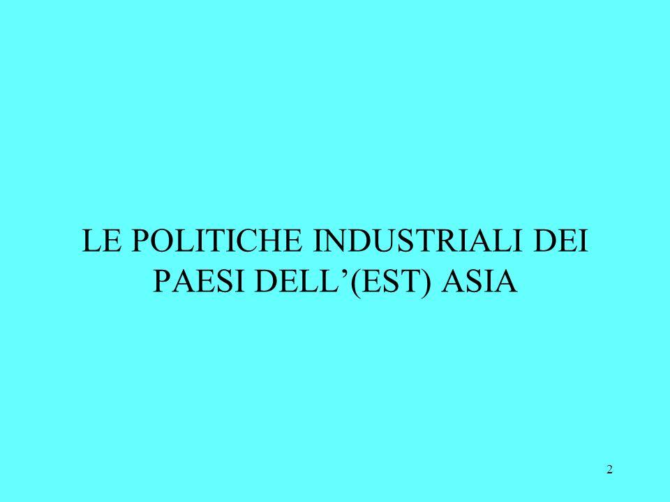 2 LE POLITICHE INDUSTRIALI DEI PAESI DELL(EST) ASIA