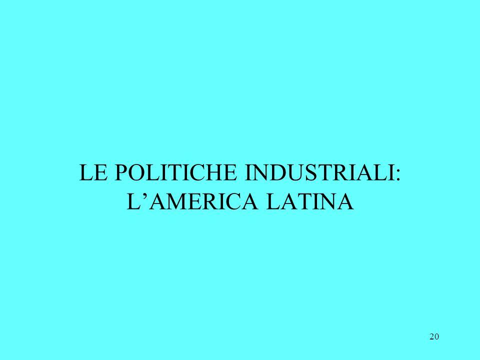 20 LE POLITICHE INDUSTRIALI: LAMERICA LATINA