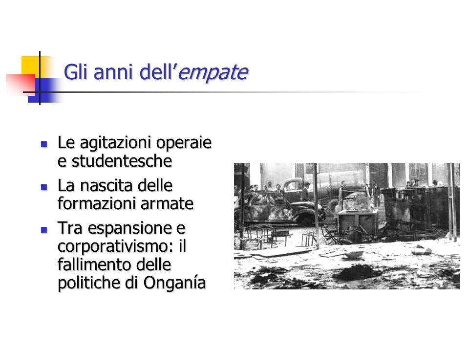 Gli anni dellempate Le agitazioni operaie e studentesche Le agitazioni operaie e studentesche La nascita delle formazioni armate La nascita delle form