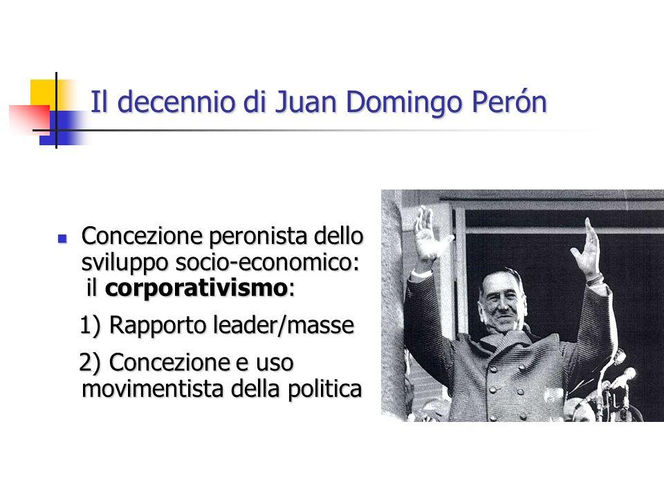 Il decennio di Juan Domingo Perón Concezione peronista dello sviluppo socio-economico: Concezione peronista dello sviluppo socio-economico: il corpora