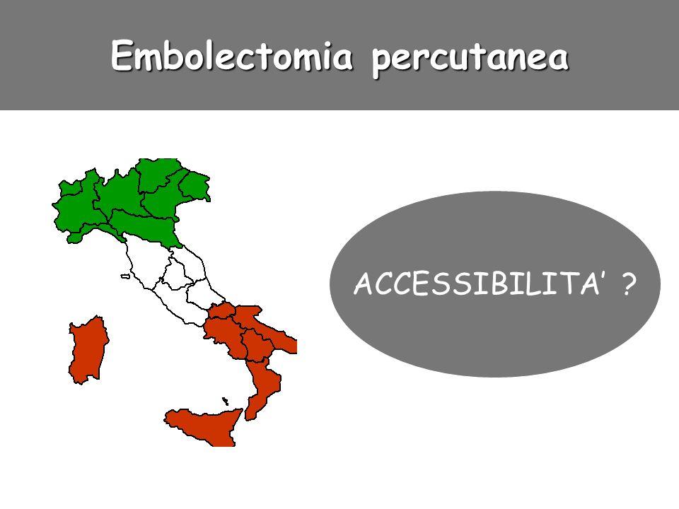 Embolectomia percutanea ACCESSIBILITA ?
