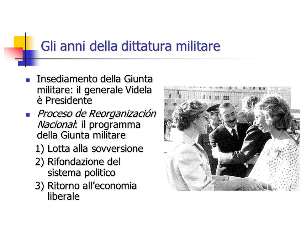 Insediamento della Giunta militare: il generale Videla è Presidente Insediamento della Giunta militare: il generale Videla è Presidente Proceso de Reo