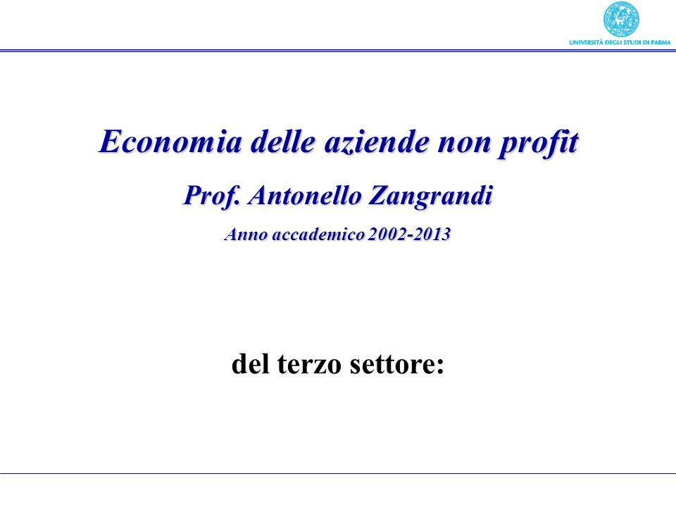 Economia delle aziende non profit Prof.