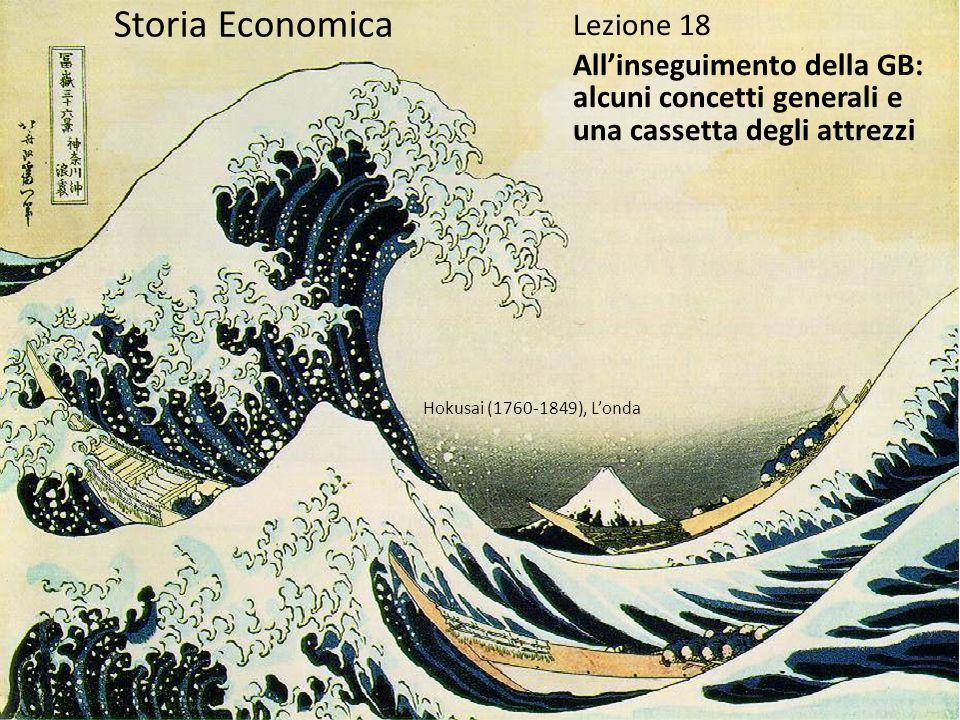 Storia Economica Lezione 18 Allinseguimento della GB: alcuni concetti generali e una cassetta degli attrezzi Hokusai (1760-1849), Londa