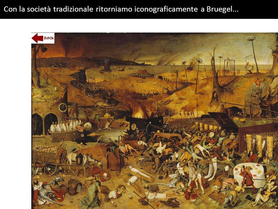 Con la società tradizionale ritorniamo iconograficamente a Bruegel...