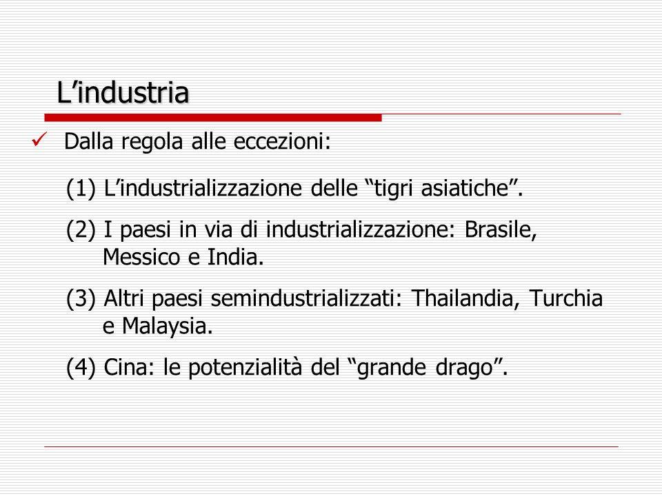 Lindustria Dalla regola alle eccezioni: (1) Lindustrializzazione delle tigri asiatiche.