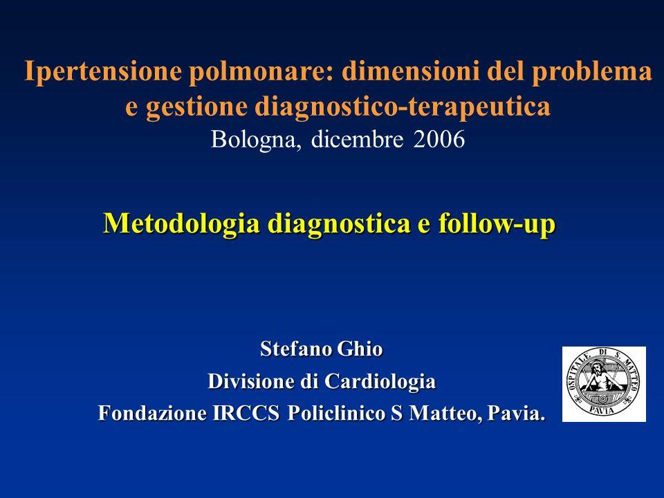 Metodologia diagnostica e follow-up Ipertensione polmonare: dimensioni del problema e gestione diagnostico-terapeutica Bologna, dicembre 2006 Stefano