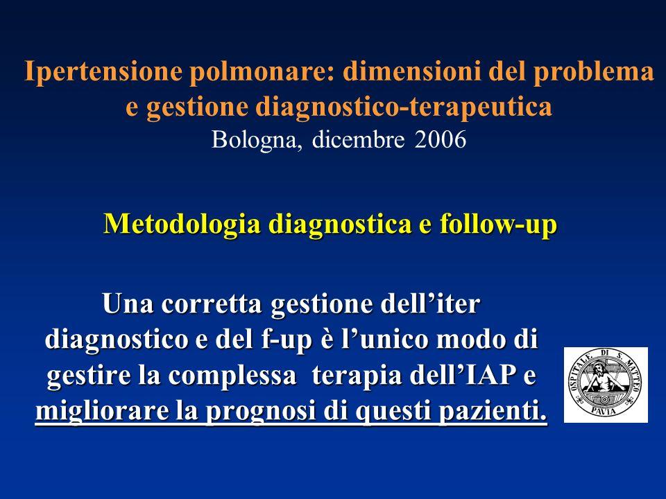 Metodologia diagnostica e follow-up Ipertensione polmonare: dimensioni del problema e gestione diagnostico-terapeutica Bologna, dicembre 2006 Una corr